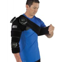 Man applying ICE20 Combo Arm Ice Compression Therapy