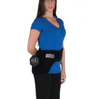Woman wearing ICE20 Hip Ice Compression Therapy Pack